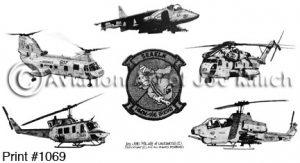 US Marine Corps Squadron Prints